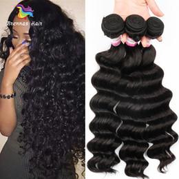 "Sheds Prices NZ - Wholesale Price Loose Wave Remy Hair Bundles 8""-30"" Natural Color 1B Peruvian Malaysian Indian Brazilian Human Hair Weaving No Shedding"