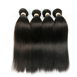 Discount hair extension colors styles - straight wave human hair bundles hairs Real person Hairs extension Virgin Bundles Brazilian Virgin Hair Bundles with Clo