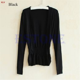 Discount womens cardigan jackets - KLV Womens Korean Casual Long Sleeve Knit Cardigan Tops Knitwear Coat Jacket Sweater