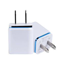 usb power bank adapter UK - For Samsun LG iPX LG Dual USB Wall Charger 5V 2.1A 1A Metal Travel Adapter US EU plug AC Power Adapter