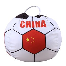 Chair World UK - 2018 World Cup Country Print Toys Stoarge Bean Bag Plush Toy Chair Bedroom Stuffed Animal Mat Clothes Portable Toys Soccer Funs Beanbag New