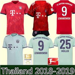 Bayern Munich soccer jersey 2018 2019 Müller  25 RIBERY ROBBEN LEWANDOWSKI  soccer shirts Bayern Munich football uniforms WOMEN man Kids Kits 7d410874c