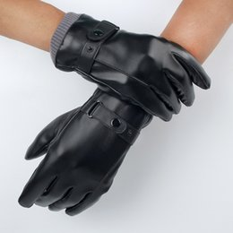 Leather Gloves For Men Australia - The Latest gloves for men and women in winter, warm touch, velvet cycling fashion gloves.