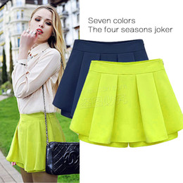 af46964811b 2018 Womens Summer Fast Selling New Joker Slim Pleated Short Skirts Casual  Sweet Colored Chiffon Dress 4 Color