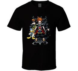 $enCountryForm.capitalKeyWord UK - Vintage T Shirts Crew Neck Men Casual Short Sleeve Kingdom Hearts 2 Heroes Video Game Tee Shirts