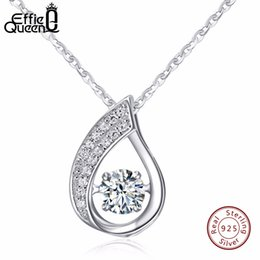 d40f8a7c6474 925 figaro chains online shopping - Effie Queen Solid Sterling Silver Women  Necklace New Flickering Zircon