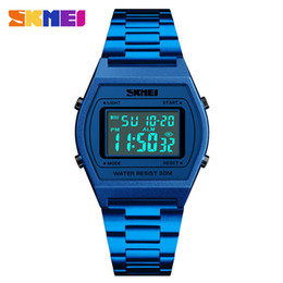 China SKMEI Luxury Business Men's Watch Stainless Steel LED Digital Waterproof WristWatches Men Male Golden Clock Relogio Feminino 1328 suppliers