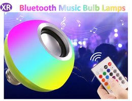 energy speakers NZ - RGB Bulb Emergency Colorful Music Bulb Led Wireless Remote Control Bluetooth Music stage Bulb Lamp Small Speaker Energy-saving Household LED
