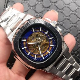 moon watch women 2019 - Hottest Geneva Nautilus all Stainless Steel Men women Vintage mechaanical Watch Moon Phase Casual Nautilus wristWatch Fr