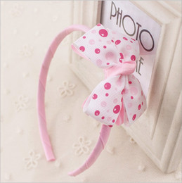 $enCountryForm.capitalKeyWord Australia - Little Gilrs Red Bow Hairband Kids Pink Bubble Blue Plaid Dot Headband gum Children Hair Accessories Headwear kk1504