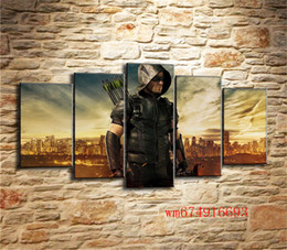 oil art nude man UK - Arrow Man , 5 Pieces Home Decor HD Printed Modern Art Painting on Canvas (Unframed Framed)