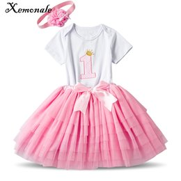 4842499ee BaBy Boy christening online shopping - Xemonale Newborn Girl Clothes Sets  First Birthday Outfits Infant Clothing