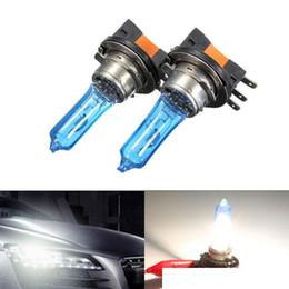 Ampoule blanche superbe DRL de phare de voiture de H15 Xenon de 1Pair 15W / 55W pour HID 6000K pour AUDI pour VW GOLF DRL / 450LM H / 1200LM en Solde