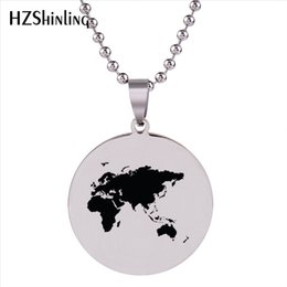 Globe map ball online shopping globe map ball for sale globe map ball online shopping 2018 new world map pendant necklace globe maps pendants stainless gumiabroncs Gallery