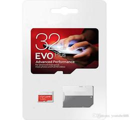 Venta al por mayor de 2019 gratis dhl 2018 pase h2testw 100% real 32GB 64GB 128GB Tarjeta de memoria Micro SD EVO Clase 10 para Smartphones Cámara Galaxy Note 7 8 Sfree