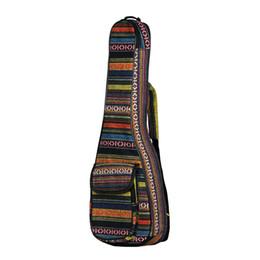 """Опт 23 """" укулеле сумка национальный стиль укелеле рюкзак случае 6 мм хлопок обивка регулируемый плечевой ремень для концерта укелеле"""