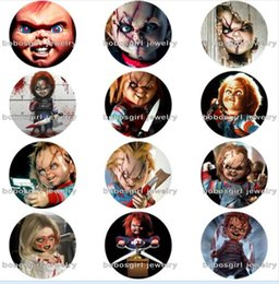 New Tv Glasses Australia - New Halloween Child's Play Chucky glass snap buttonphoto Round Gl8514 jewelry making DIY Findings Fit for bracelet necklace earrings