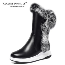 Lady Snow Boots Mid Calf Australia - Cuculus High Quality Shoes Woman Warm Mid Calf Boots Warm Ladies Snow Boots Woman Plush Insole Winter botas mujer 1590