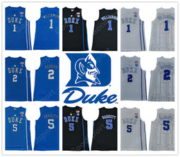 16c052658 NCAA COLLEGE Stitched Blue Evil DUKE Zion Williamson R.J. Barrett Cam  Reddish IRVING ALLEN INGRAM PARKER SHIRTS Jerseys 2019