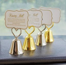 Kissing Bell Place Card Photo Holder Heart Wedding Party Decoration Favors Free Shipping Discount Bells