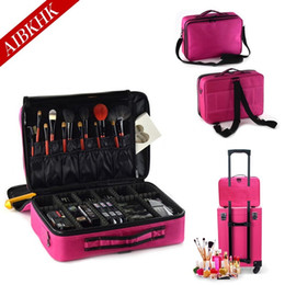 Professional travel makeuP box online shopping - Women Fashion Cosmetic Bag Travel Makeup Organizer Professional Make Up Box Cosmetics Pouch Bags Beauty Case For Makeup Artist