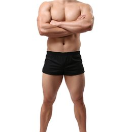 65b8eaf75d05 Men Underwear Boxers Shorts Cueca Home Casual Boxers Shorts Breathable Comfy  Underpants Solid Loose Men Trunk Underpants