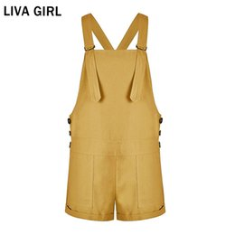 a6702461d5 LIVA GIRL Women Playsuit Bib Pants Summer 2018 Fashion Feminino Cute Rompers  Women Multicolor Jumpsuit Shorts Female Overalls
