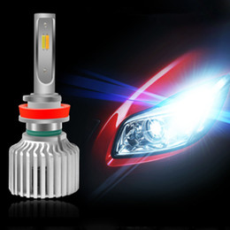 Wholesale Car LED Headlights 3 Color Temperature 3000K 4300K 6000K Three Color Temperature Headlights High Beam Near Light Low Beam Fog Lamp Head Lamp