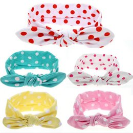 Hair Band Girl Kids Australia - 10PCS lot Fashion Girl Dot Knot Rabbit Ear Headband kids Hair Accessories turban Elastic Hair Bands Tops