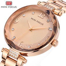 Focus Steel Canada - MINI FOCUS Fawkes, diamond watch, quartz watch, elegant steel belt table spiral surface.