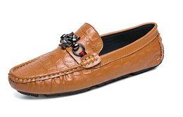 $enCountryForm.capitalKeyWord Canada - New to black TOP leather men's wedding shoes business casual pointed leatherT trendy leather casual shoes sheetmetal flats big size 38-44 c8