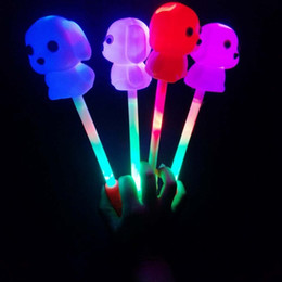 $enCountryForm.capitalKeyWord Australia - Cute Funny Dog Flash Light Magic Stick Concert Glow Stick Children Electronic Magic Wand Luminous Birthday Gifts for Kids H667
