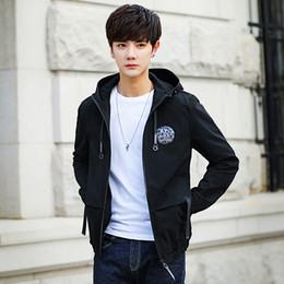 Korean blacK coat design online shopping - 2018 New Top Fashion Mens Slim Designed Hooded Cardigan Coat Jacket Korean Warm Fit Color coat