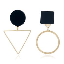 $enCountryForm.capitalKeyWord UK - Europe and the United States Big Irregular Geometric Triangular Earrings CE341