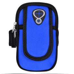 Cellphone Keys UK - Unisex Sports Arm Bag Multifunctional Armband Pockets Wrist Cellphone Keys Cards Holder Jogging Runningfor Phones under 6 inch