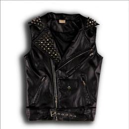 $enCountryForm.capitalKeyWord Canada - S-3XL New men and women zipper sleeveless Slim leather rivets vest performance PU leather jacket nightclub DS singer costumes