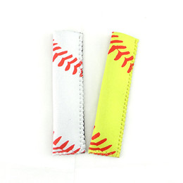 Discount sports ice bag - Fashion Sports Pop Bag Rectangle Neoprene Popsicle Mould Sleeves Holder Lily Baseball Rugby Ice Cream Cover For Home 1 5