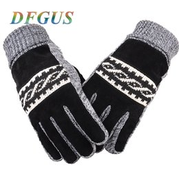 Men Gloves Leather Sheepskin Australia - Brand Genuine Guantes Touch Screen Warm Sheepskin Men Leather for Women Winter Gloves C18111501