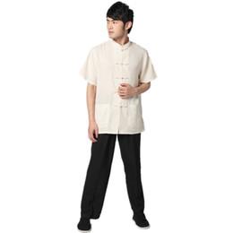China Free shipping Spring men taiji clothing set Tai chi uniform set men chinese kung fu suit short Sleeve shirt + pants cheap taiji clothing suppliers