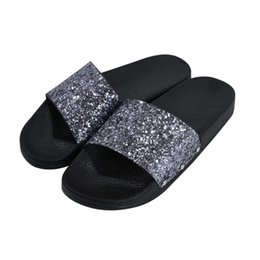369a2c269159 Flip Flops Comfortable UK - Fretta Women Slippers Flip Flops Peep Toe Sandals  Glitter Slippers Sandals