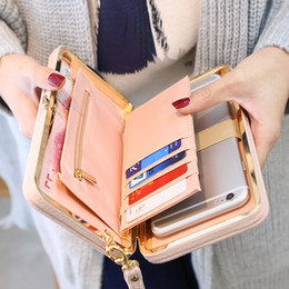 Wholesale 2019 Fashion Wallets Women Long Design Cute Bowknot Large Capacity Lunch Box Ladies Wallet Purse Clutch Casual