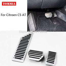 foot rest covers 2019 - tommia For  C5 AT MT 2012-2016 Pedal Cover Fuel Gas Brake Foot Rest Housing No Drilling Car-styling cheap foot rest cove