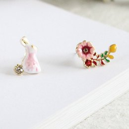 $enCountryForm.capitalKeyWord NZ - New earrings exquisite Enamel rabbit mushroom flower earrings sweet fashion