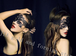 $enCountryForm.capitalKeyWord NZ - Sexy Party Eye Masks Babydolls Porn Lingerie Hollow Out Lace Mask Erotic Costumes Women Sexy Lingerie Hot Cosplay Toys