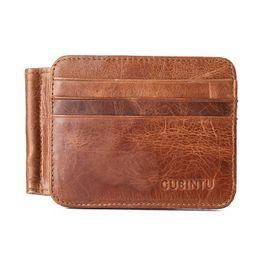 $enCountryForm.capitalKeyWord NZ - YISHEN Genuine Leather Men Dollar Money Clips Multi-Bits Card Bits Retro Vintage Style Male Small Wallets Purse Card Case C044#
