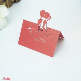$enCountryForm.capitalKeyWord Australia - 50 pcs Laser Cut Name Table Place Card Groom Bride Sweet Wedding Celebration Party Desk Card Seats Name Cards 6ZZ20