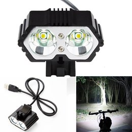 $enCountryForm.capitalKeyWord NZ - Free Ship 6000LM 2 X CREE XM-L T6 LED USB Waterproof Lamp Bike Bicycle Headlight Bicycle Front Lamp Bike Accessories