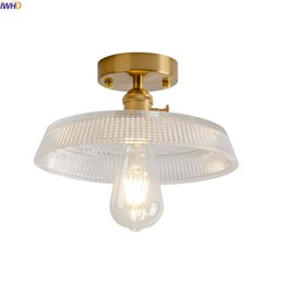 Iwhd Glass Ball Led Ceiling Light Fixtures Living Room Porch Edison Vintage Ceiling Lamps Luminaire Lighting Lamparas De Techo Lights & Lighting