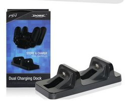 Wholesale Dual Charging Dock Dual Micro USB PS4 Charger Station Stand Base For PS4 Playstation Wireless Controller free ship