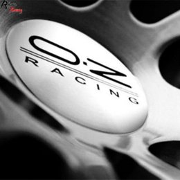 65mm Wheel Sticker NZ - Rhino Tuning 4PC X 65mm 50mm 56mm Aluminum Auto Car Wheel Center Badge Emblem O.Z OZ Racing For Polo Tiguan Jetta Golf 13528